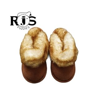 RJ'S Fuzzies Toddler slippers, size 8, unisex